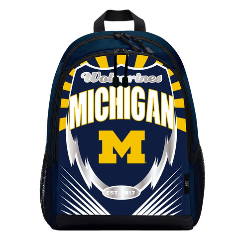 Michigan Wolverines Lightning Graphics Backpack