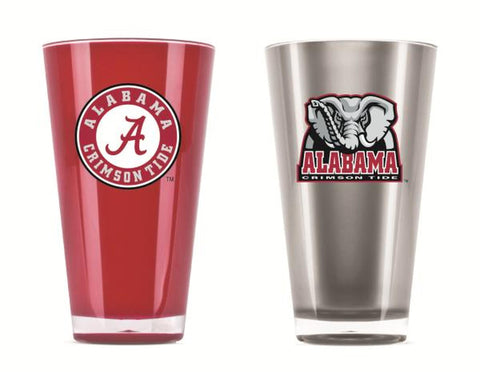Alabama Crimson Tide 20 oz. Tumbler Glasses Set of 2