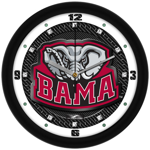 Alabama Crimson Tide Carbon Fiber Wall Clock