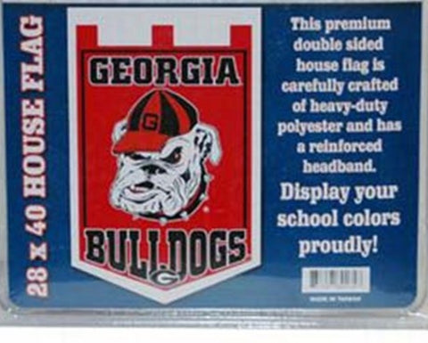 Georgia Bulldogs Double Sided House Banner Flag