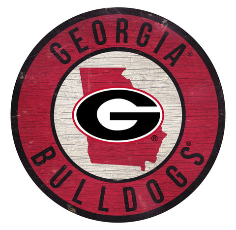 "Georgia Bulldogs 12"" Wooden Wall Sign"