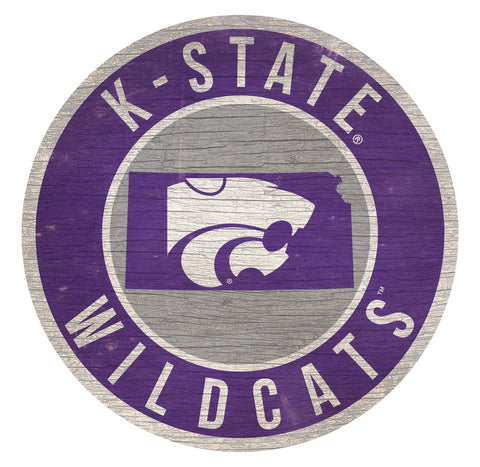 "Kansas State Wildcats 12"" Wooden Wall Sign"