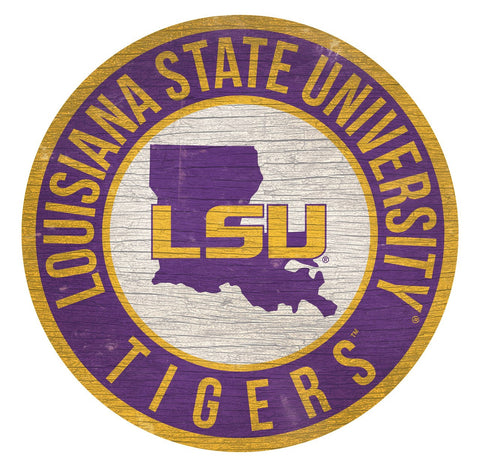 "LSU Tigers 12"" Wooden Wall Sign"