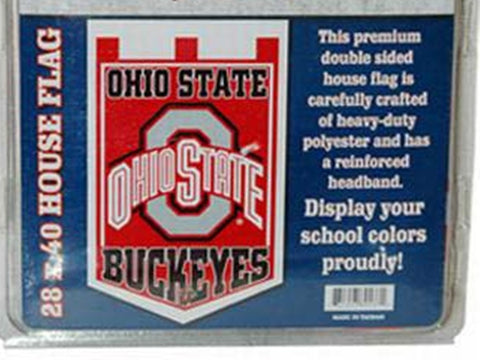 Ohio State Buckeyes Double Sided House Banner Flag