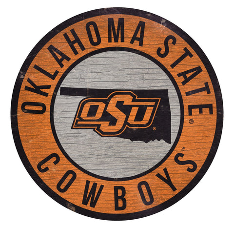"Oklahoma State Cowboys 12"" Wooden Wall Sign"