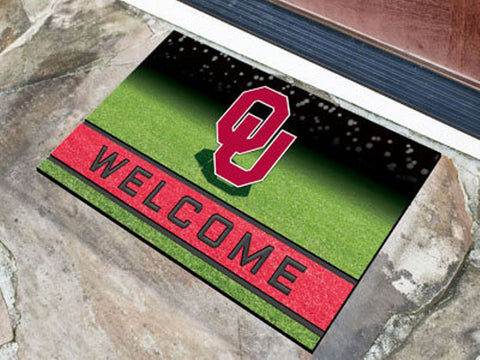 Oklahoma Sooners Heavy Duty Crumb Rubber Doormat