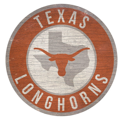 "Texas Longhorns 12"" Wooden Wall Sign"