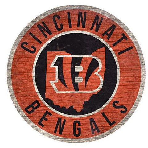 "Cincinnati Bengals 12"" Wooden Wall Sign"
