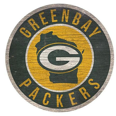 "Green Bay Packers 12"" Wooden Wall Sign"
