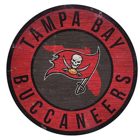 "Tampa Bay Buccaneers 12"" Wooden Wall Sign"