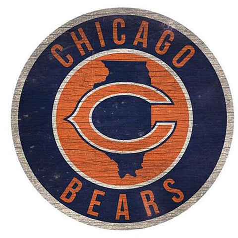 "Chicago Bears 12"" Wooden Wall Sign"