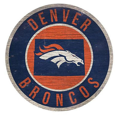 "Denver Broncos 12"" Wooden Wall Sign"