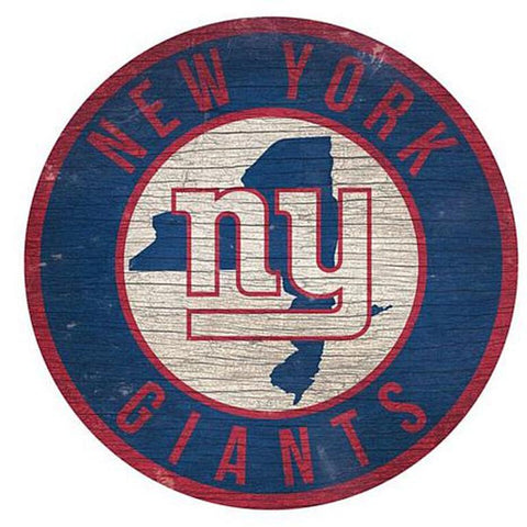 "New York Giants 12"" Wooden Wall Sign"