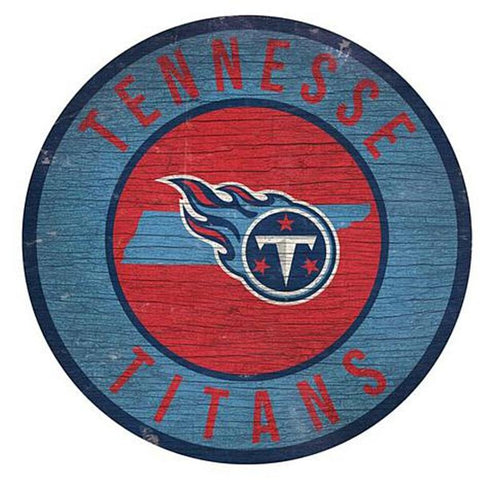 "Tennessee Titans 12"" Wooden Wall Sign"