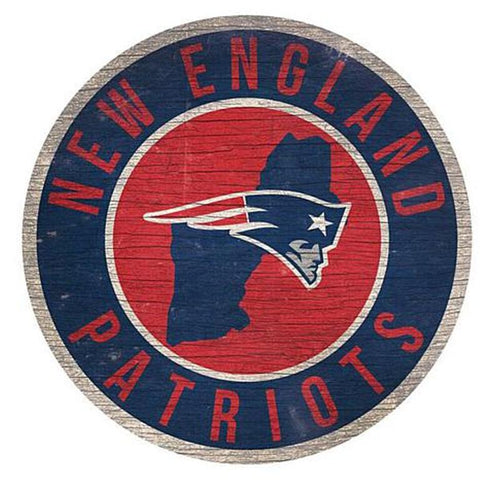 "New England Patriots 12"" Wooden Wall Sign"