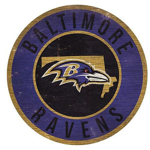 "Baltimore Ravens 12"" Wooden Wall Sign"
