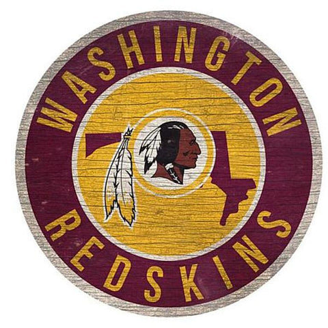 "Washington Redskins 12"" Wooden Wall Sign"