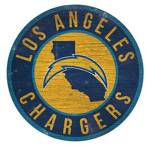 "Los Angeles Chargers 12"" Wooden Wall Sign"