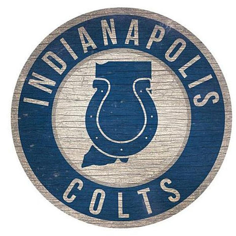 "Indianapolis Colts 12"" Wooden Wall Sign"