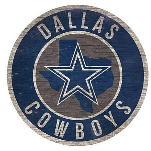 "Dallas Cowboys 12"" Wooden Wall Sign"