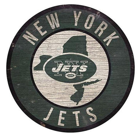 "New York Jets 12"" Wooden Wall Sign"