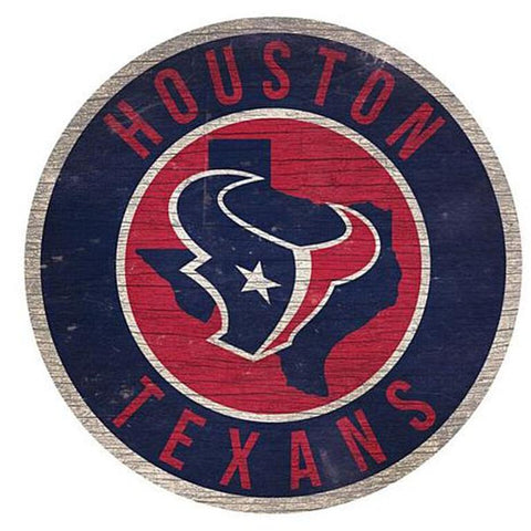 "Houston Texans 12"" Wooden Wall Sign"