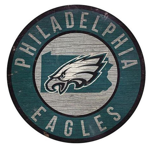"Philadelphia Eagles 12"" Wooden Wall Sign"