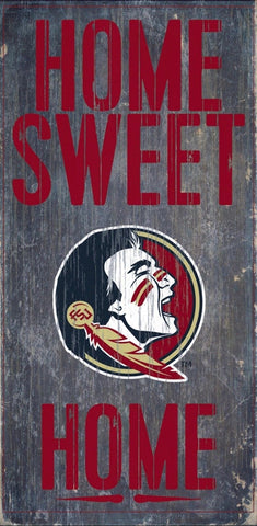 Florida State Seminoles Home Sweet Home Wood Wall Sign