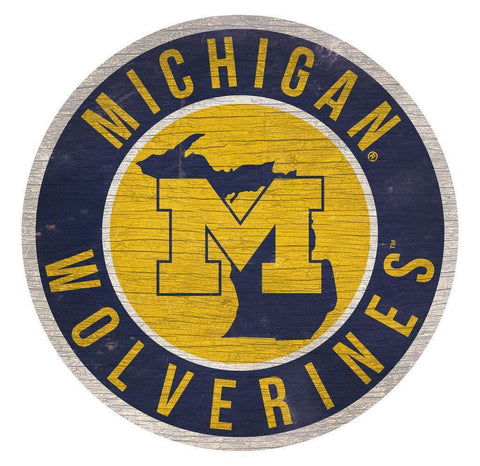 Michigan Wolverines Wooden Wall Sign