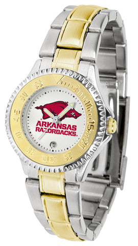 Arkansas Razorbacks Competitor Two Tone Stainless Steel Women's Watch