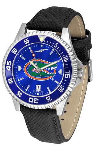 Florida Gators Men's Competitor AnoChrome Color Bezel Leather Watch
