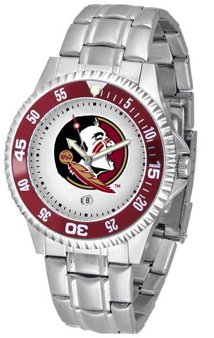 Florida State Men's Competitor Stainless Steel AnoChrome with Color Bezel Watch