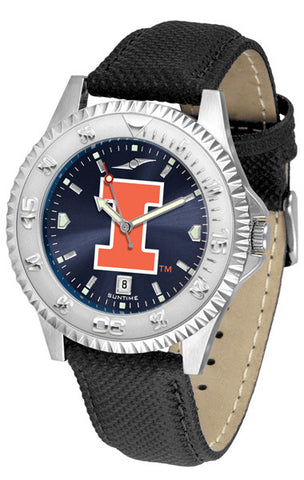 Illinois Men's Competitor AnoChrome Leather Band Watch