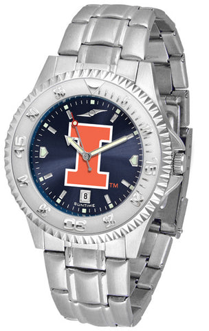 Illinois Men's Competitor Stainless Steel AnoChrome Watch