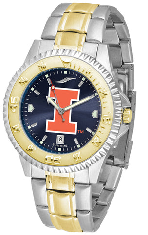 Illinois Fighting Illini Men's Competitor Stainless Steel Anochrome Two Tone Men's Watch