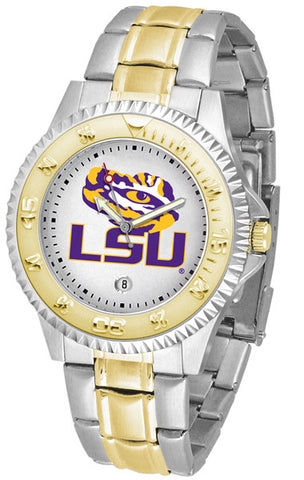LSU Tigers Competitor Two Tone Stainless Steel Men's Watch