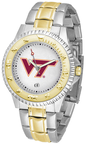 Virginia Tech Hokies Competitor Two Tone Stainless Steel Men's Watch
