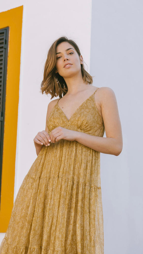 Sarah Dress - Mosaique Mustard