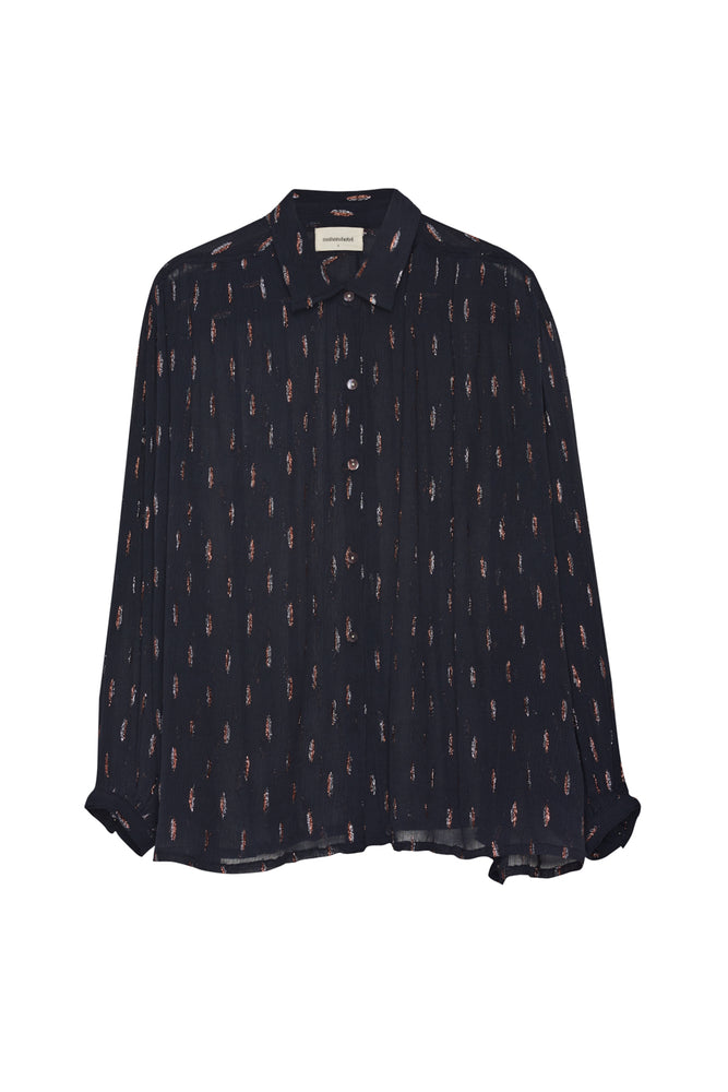 Femi Blouse - Feathers Marine