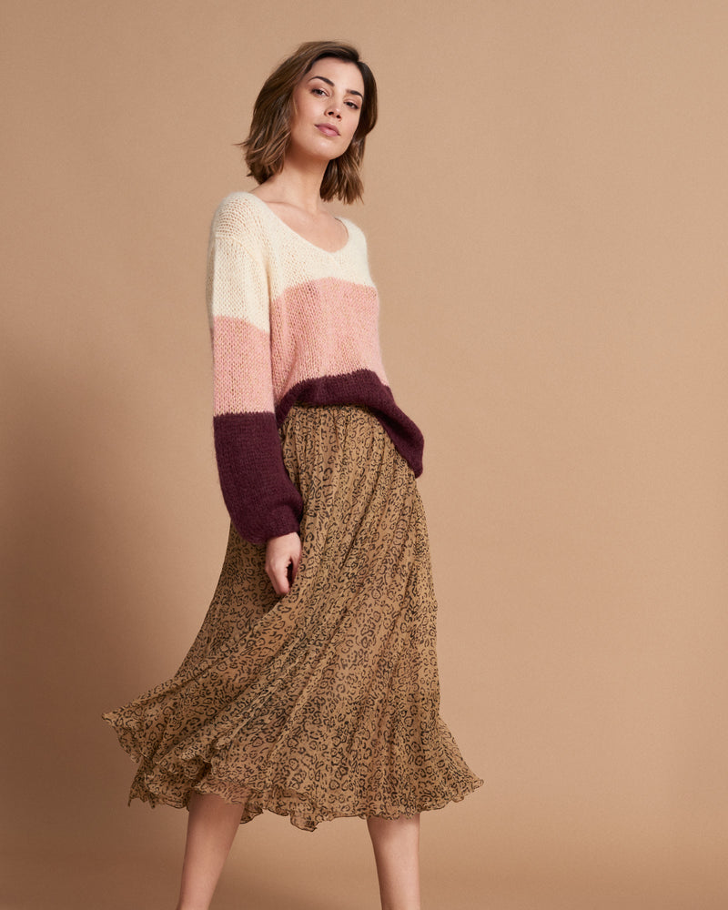Arielle Skirt - Animal Tan