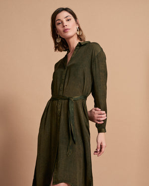 Vera Dress - Delave Green