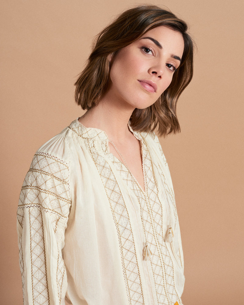 Regine Blouse - Muse Ecru