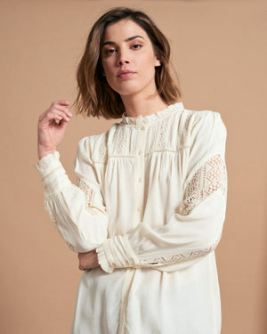 Load image into Gallery viewer, Angeline Blouse - Romantique Ecru