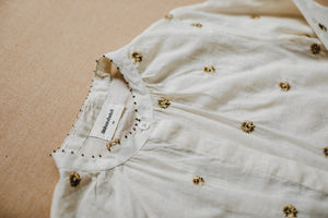 Caroline Blouse - Golden Flowers
