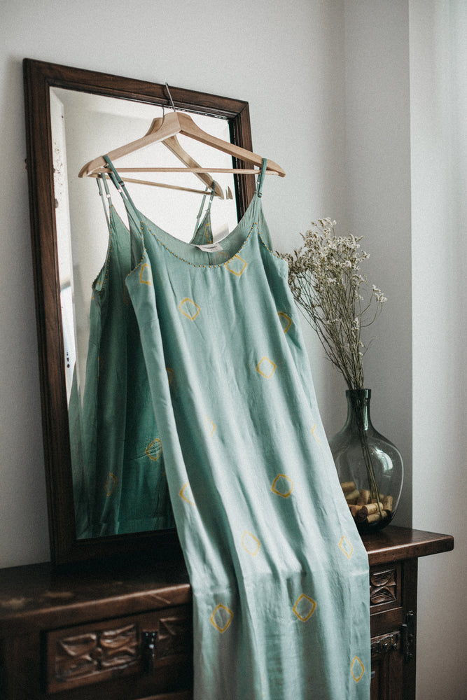 Bella Dress - Aqua Tie-Dye