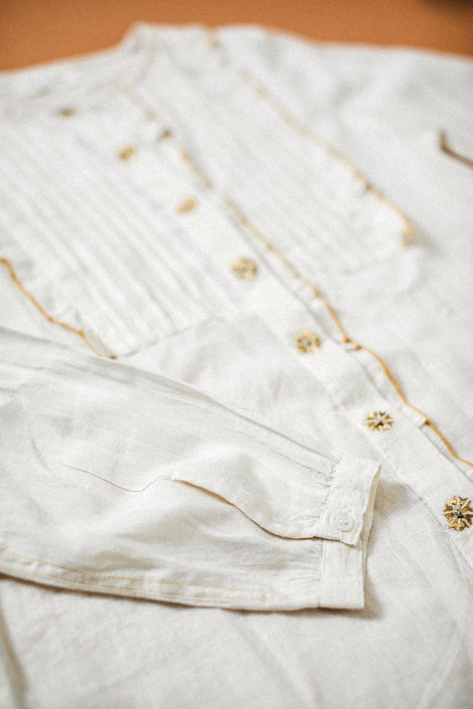 Load image into Gallery viewer, Sandrine Blouse - Golden Flowers