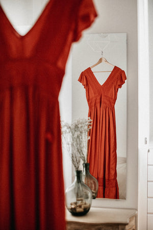 Load image into Gallery viewer, Vina Dress - Coral