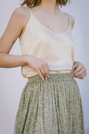 Tawni Skirt - Flower Olive