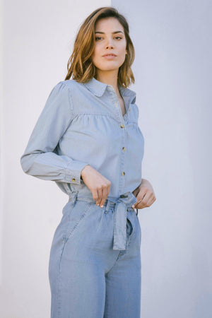 Load image into Gallery viewer, Ismay Blouse - Denim