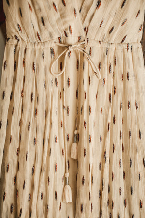 Hanna Dress - Feathers Ivoire